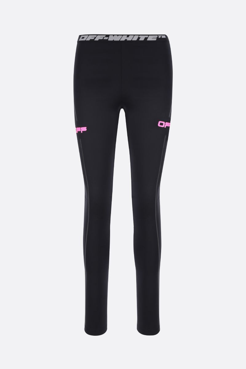OFF WHITE: Active technical jersey leggings Color Black_1
