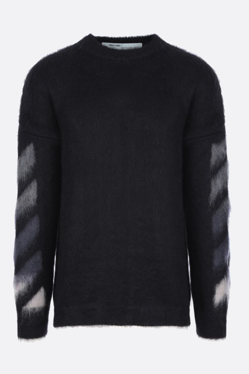 OFF WHITE: Arrows intarsia mohair wool blend pullover Color Multicolor_1