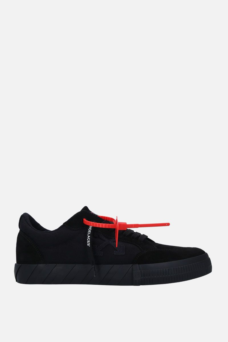OFF WHITE: Low Vulcanized sneakers in technical fabric and suede Color Black_1