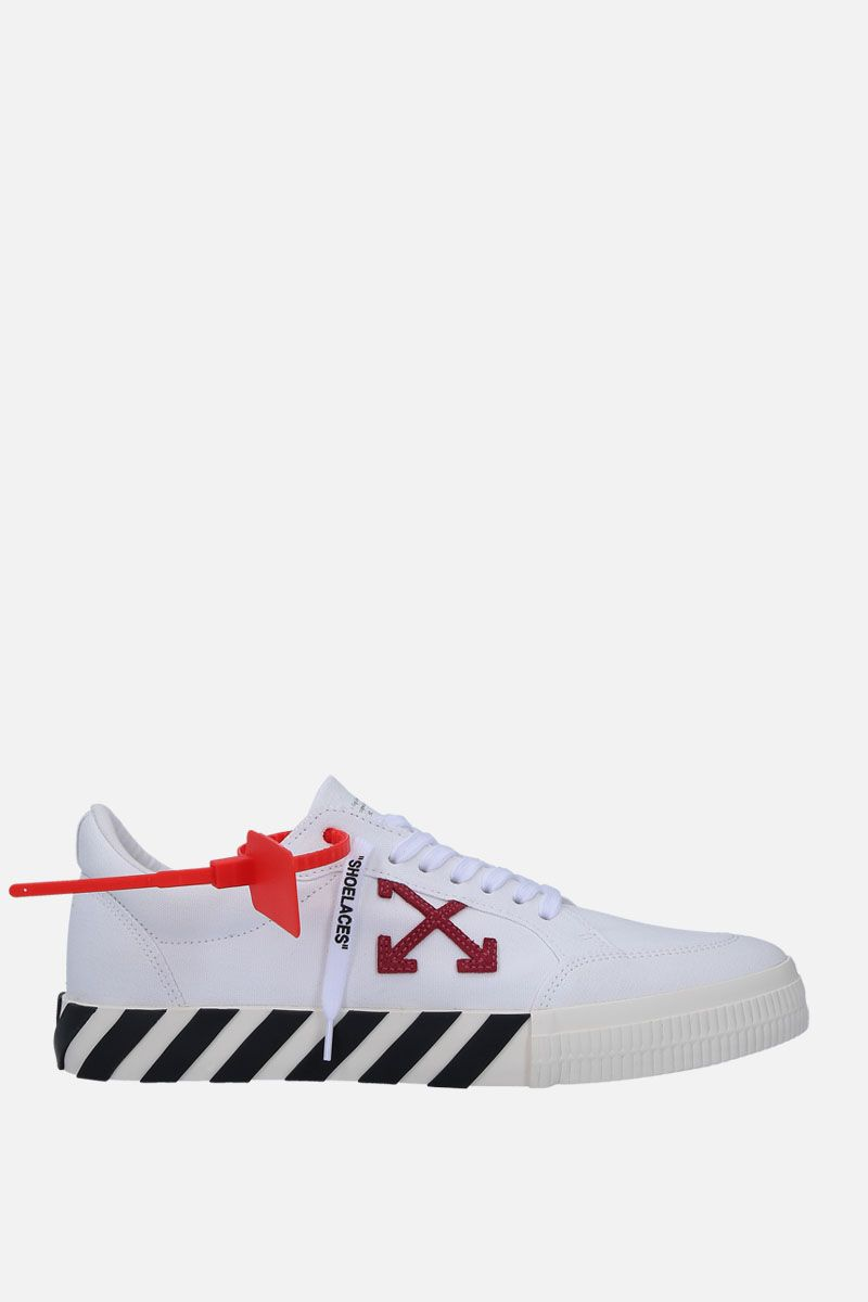 OFF WHITE: Low Vulcanized sneakers in technical fabric and suede_1