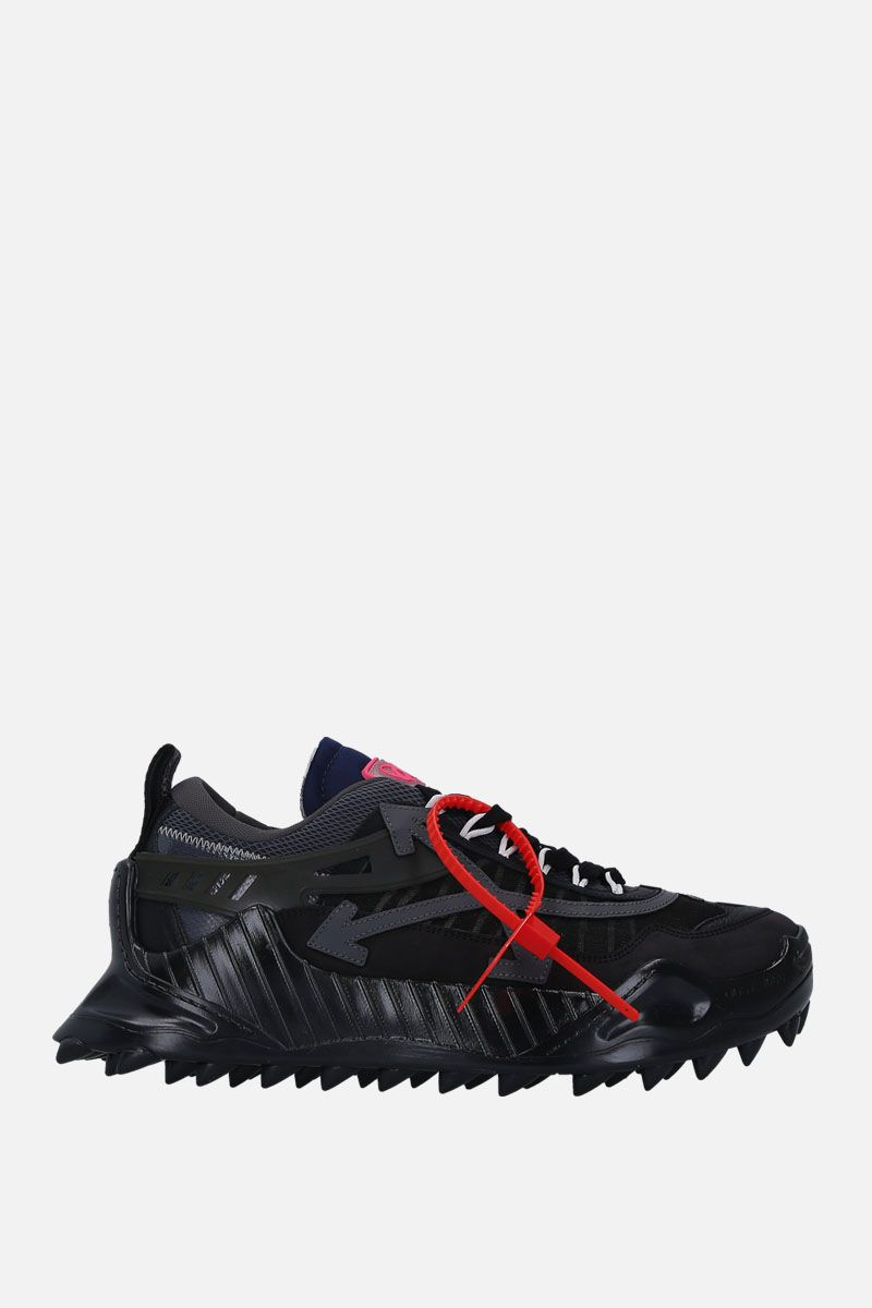 OFF WHITE: ODSY-1000 sneakers in mesh and nabuk Color Black_1