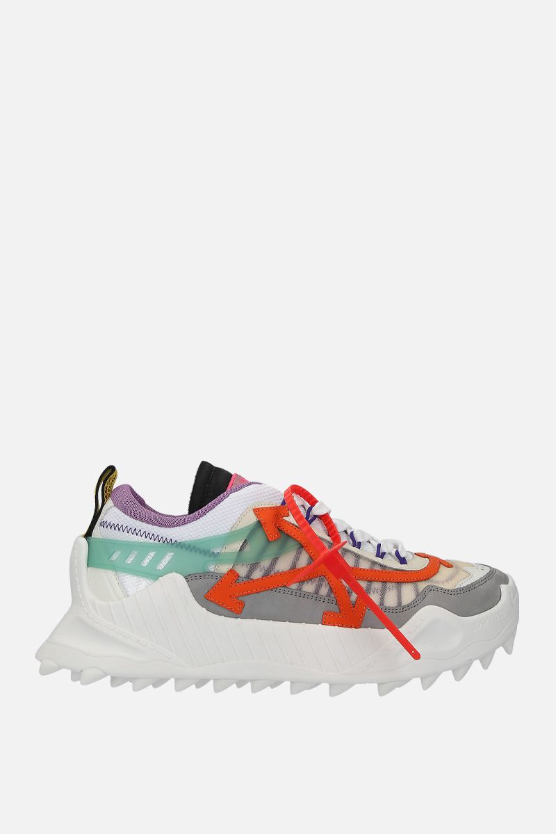 OFF WHITE: sneaker Odsy-1000 in rete e nabuk Colore Multicolore_1