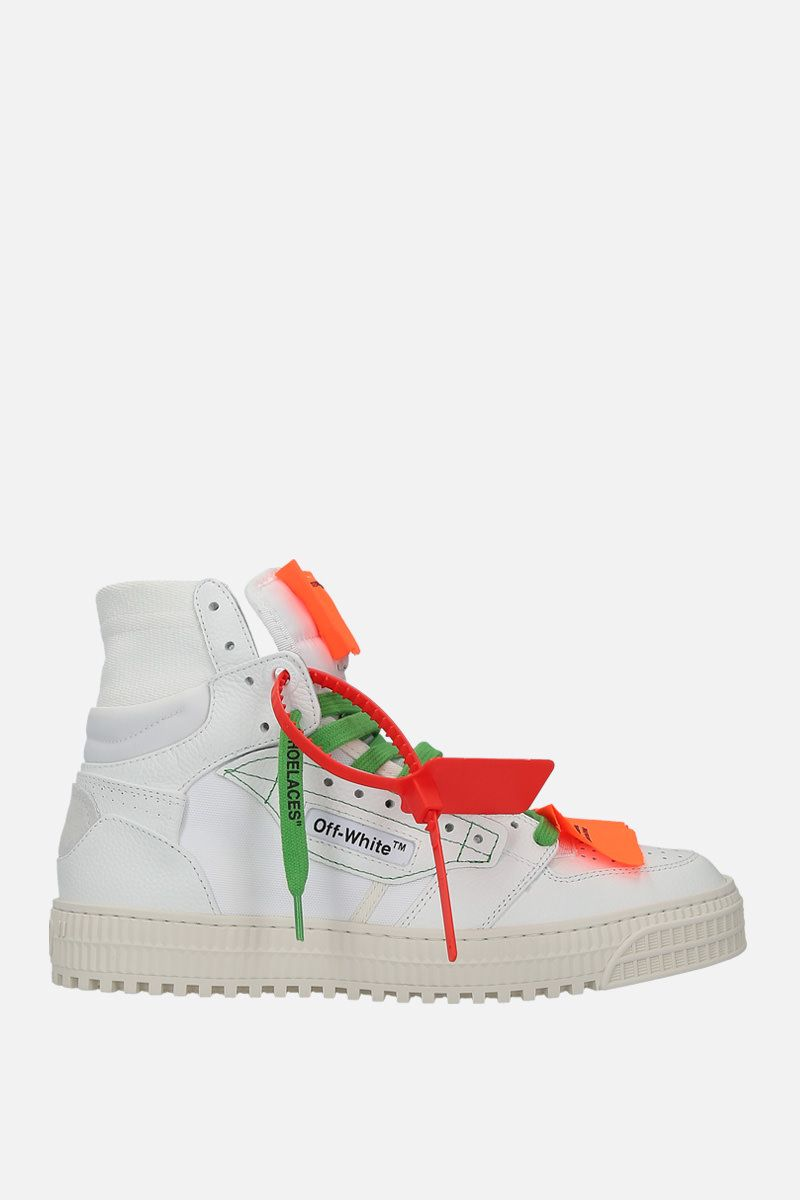OFF WHITE: Off-Court 3.0 sneakers in grainy leather and canvas Color White_1