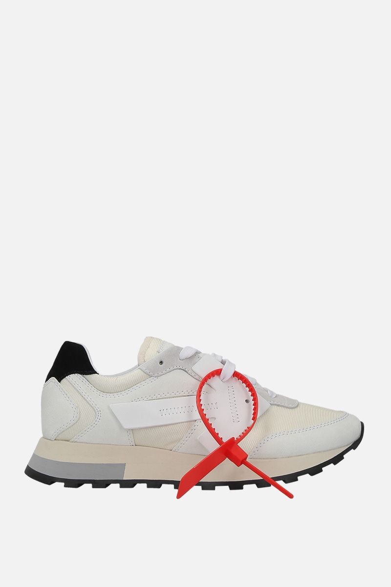 OFF WHITE: HG Runner sneakers in nylon and suede Color White_1