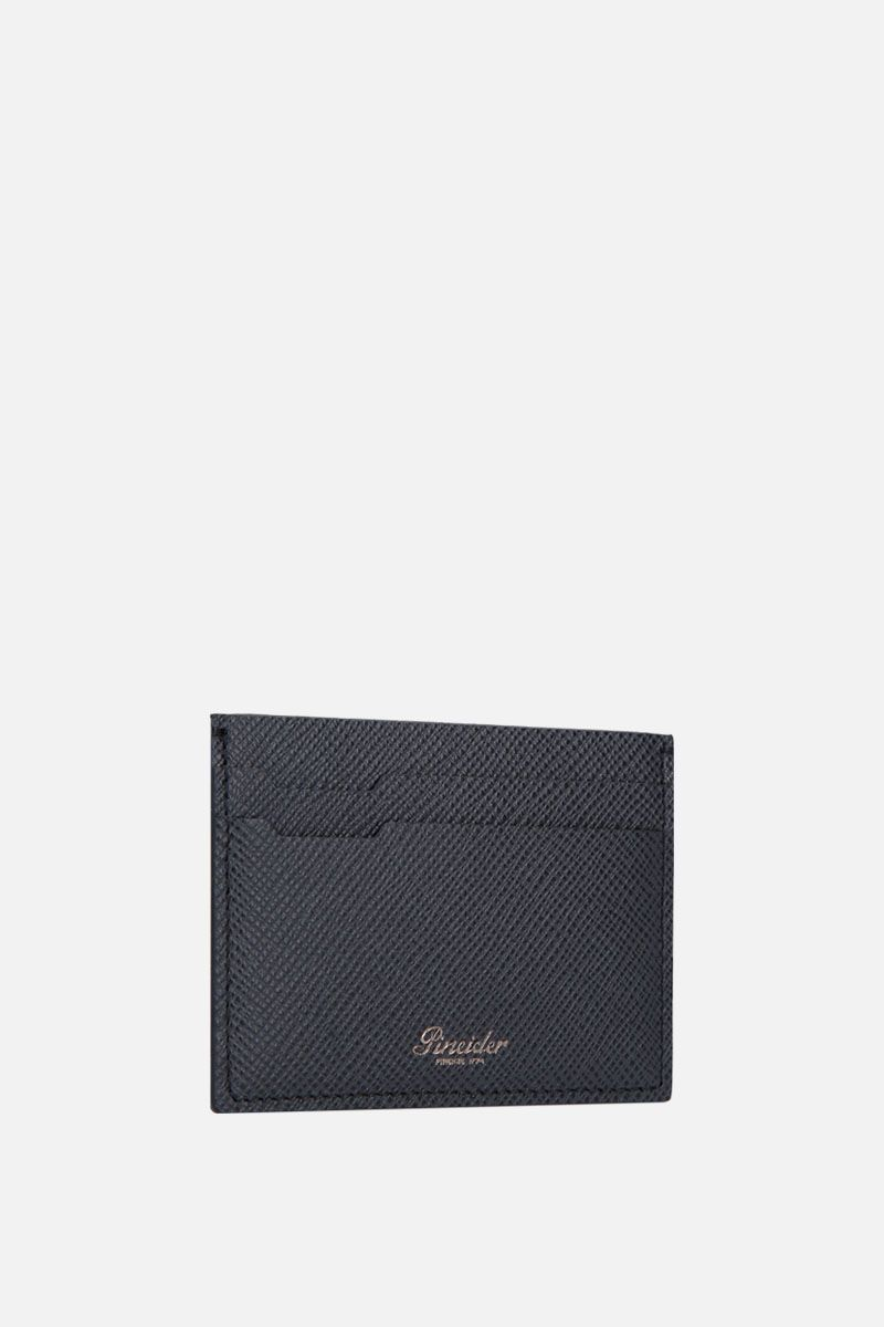 PINEIDER: 720 card case in textured leather Color Black_2