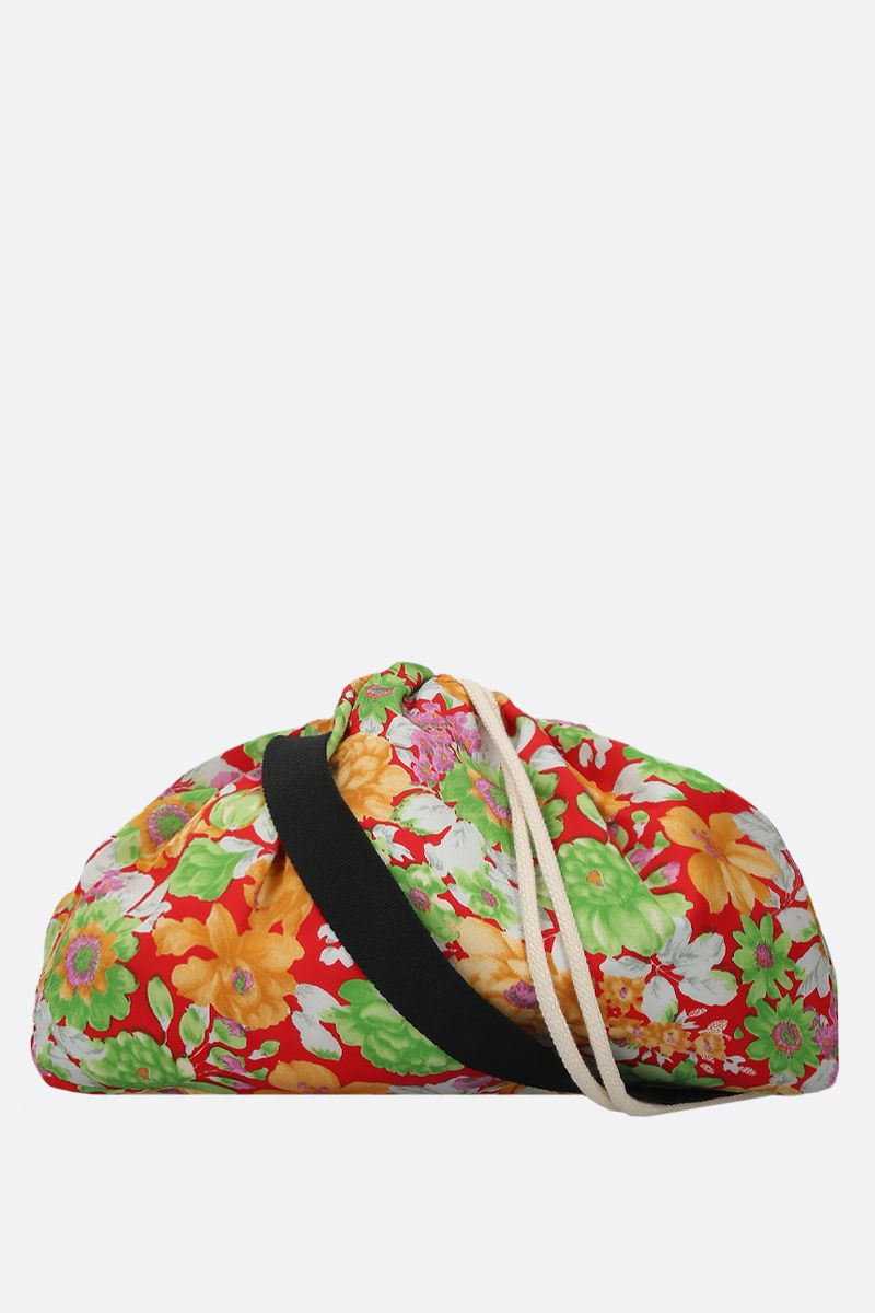 PLAN C: floral-print satin messenger bag Color Multicolor_1