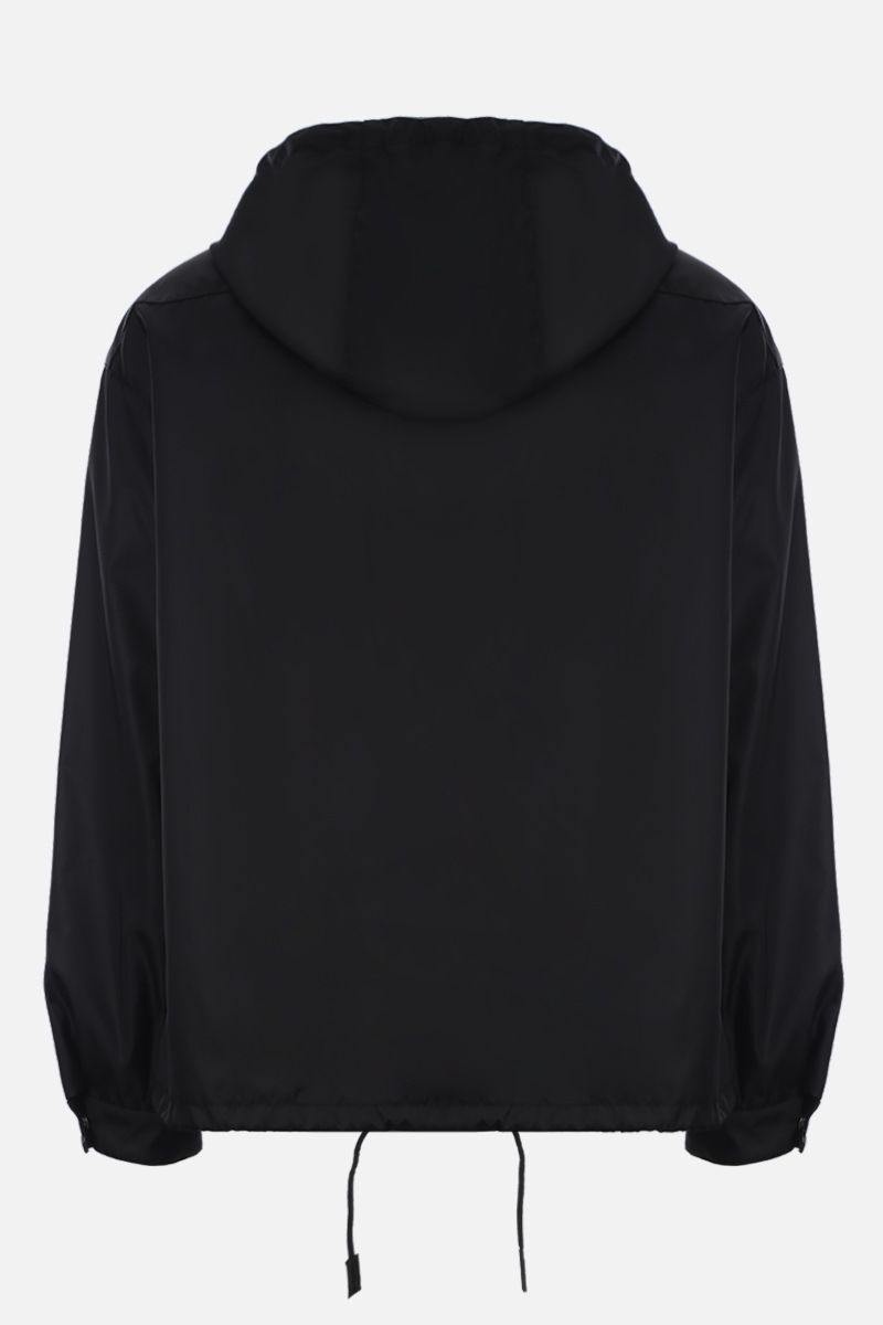 PRADA: nylon gabardine anorak jacket Color Black_2