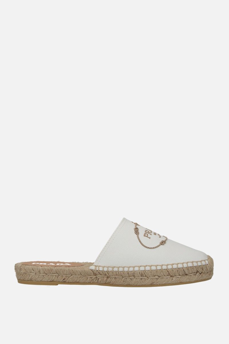 PRADA: hemp fabric slippers Color White
