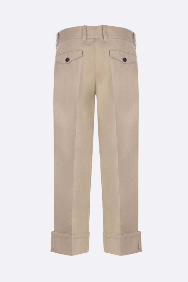 PRADA: pantalone straight-fit in cotone Colore Marrone_2