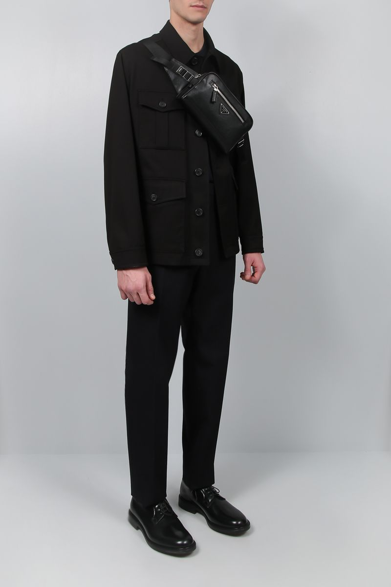 PRADA: gabardine field jacket Color Black_2