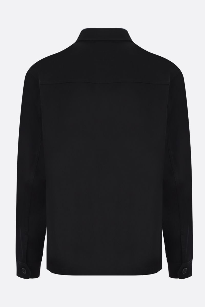 PRADA: gabardine field jacket Color Black_3