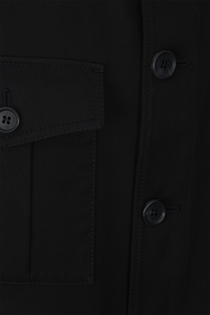 PRADA: gabardine field jacket Color Black_4