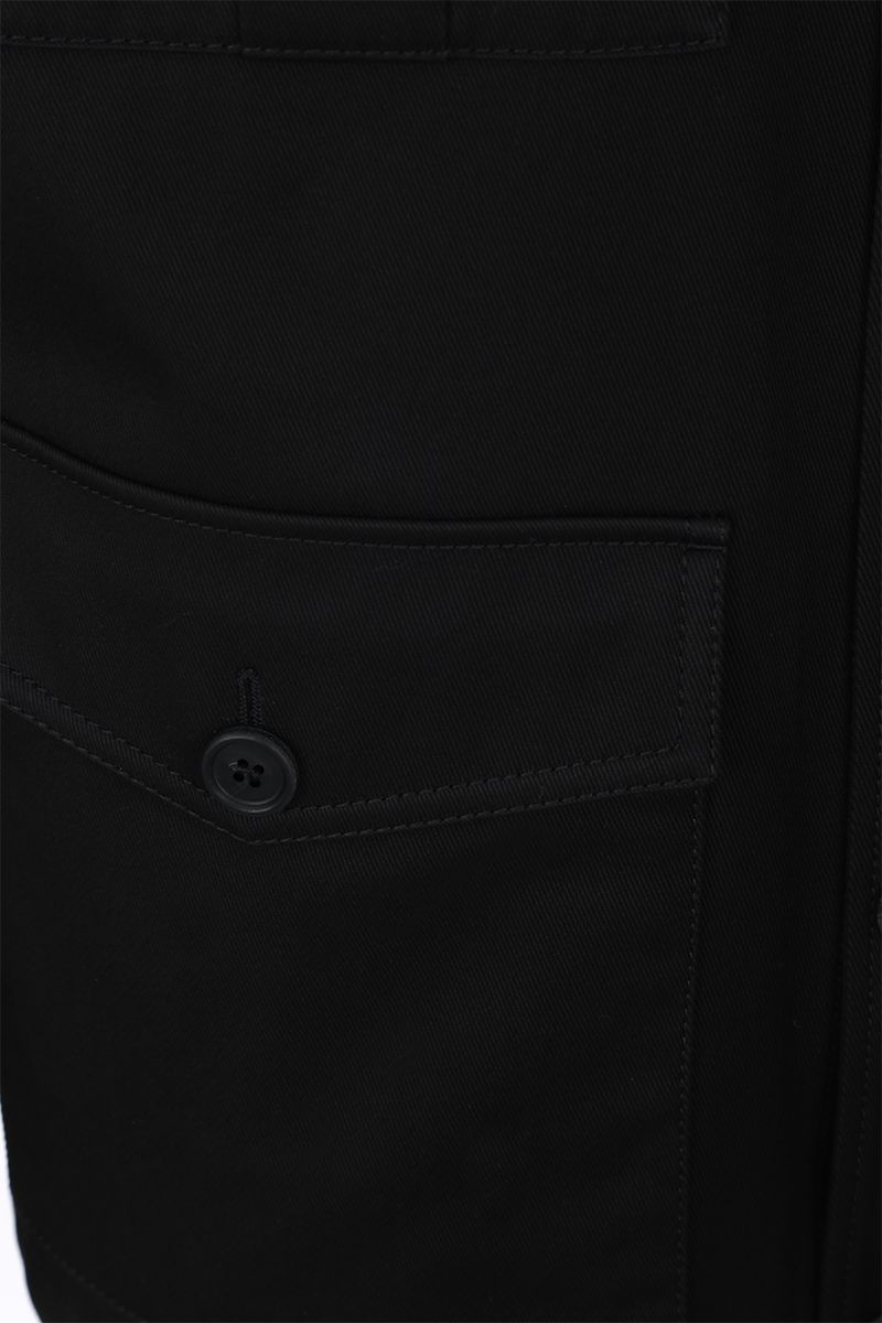 PRADA: gabardine field jacket Color Black_5