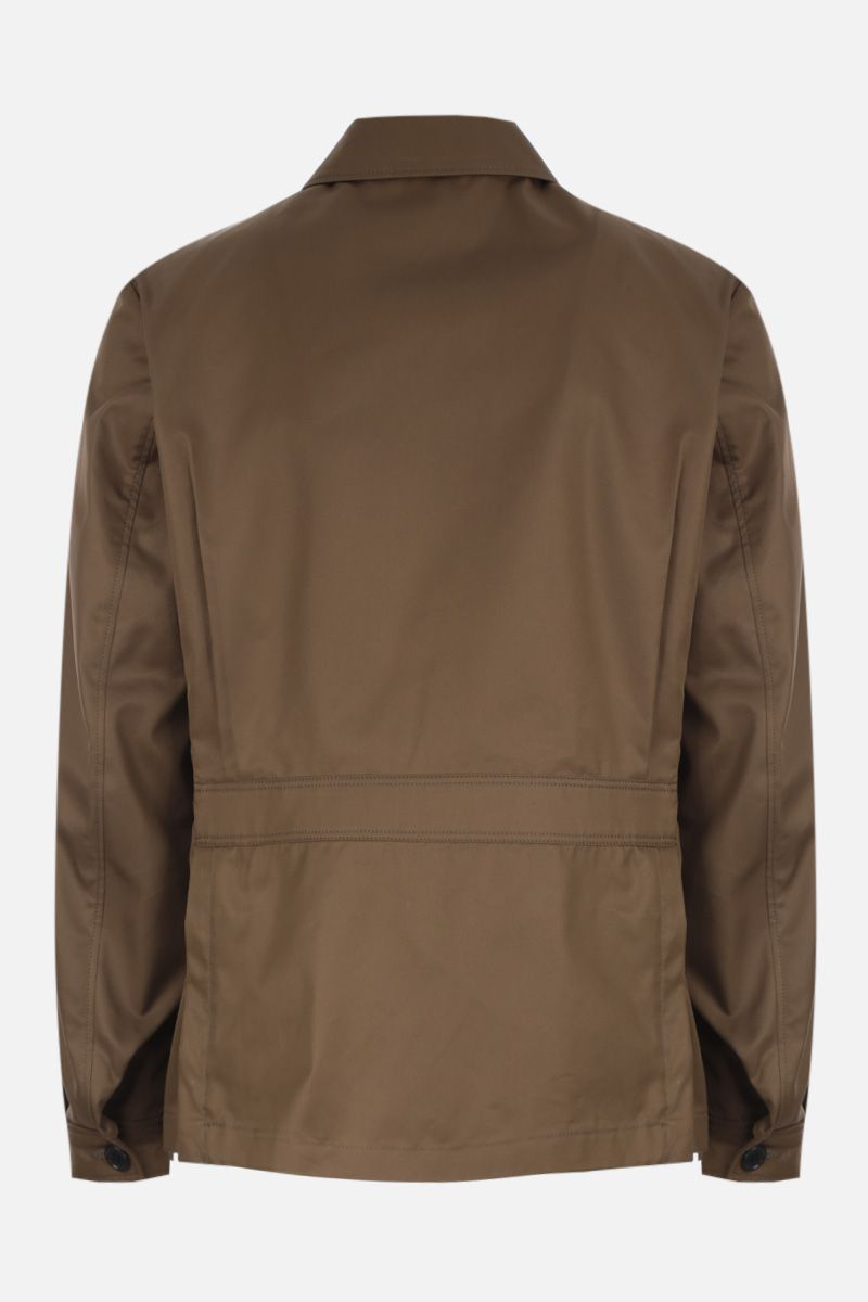 PRADA: cotton blend safari jacket Color Brown_2