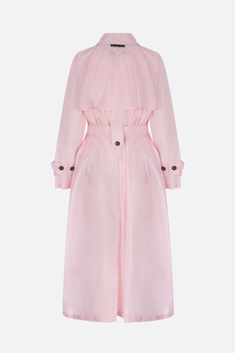 PRADA: nylon double-breasted trench coat Color Pink_2