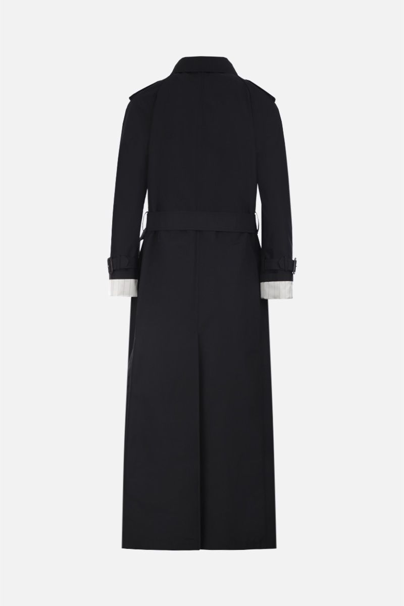 PRADA: technical cotton double-breasted trench coat Color Black_3