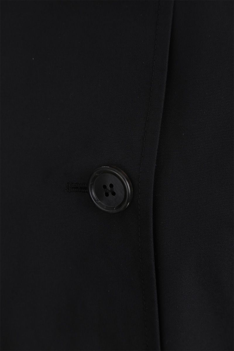 PRADA: technical cotton double-breasted trench coat Color Black_5