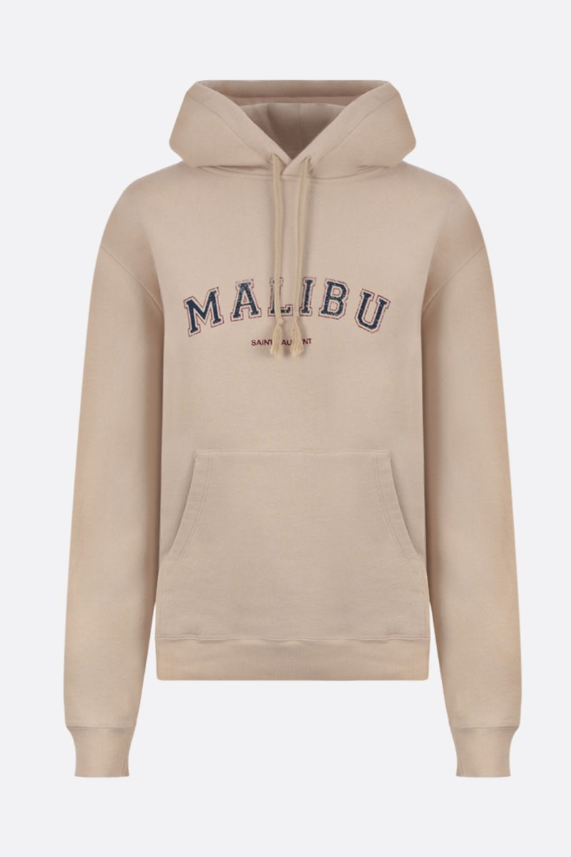 SAINT LAURENT: Malibu print cotton hoodie_1