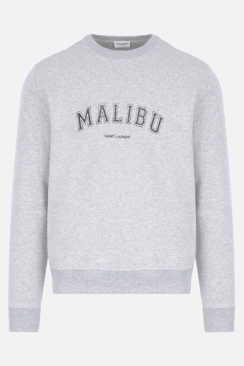SAINT LAURENT: Malibu print jersey sweatshirt Color Grey_1