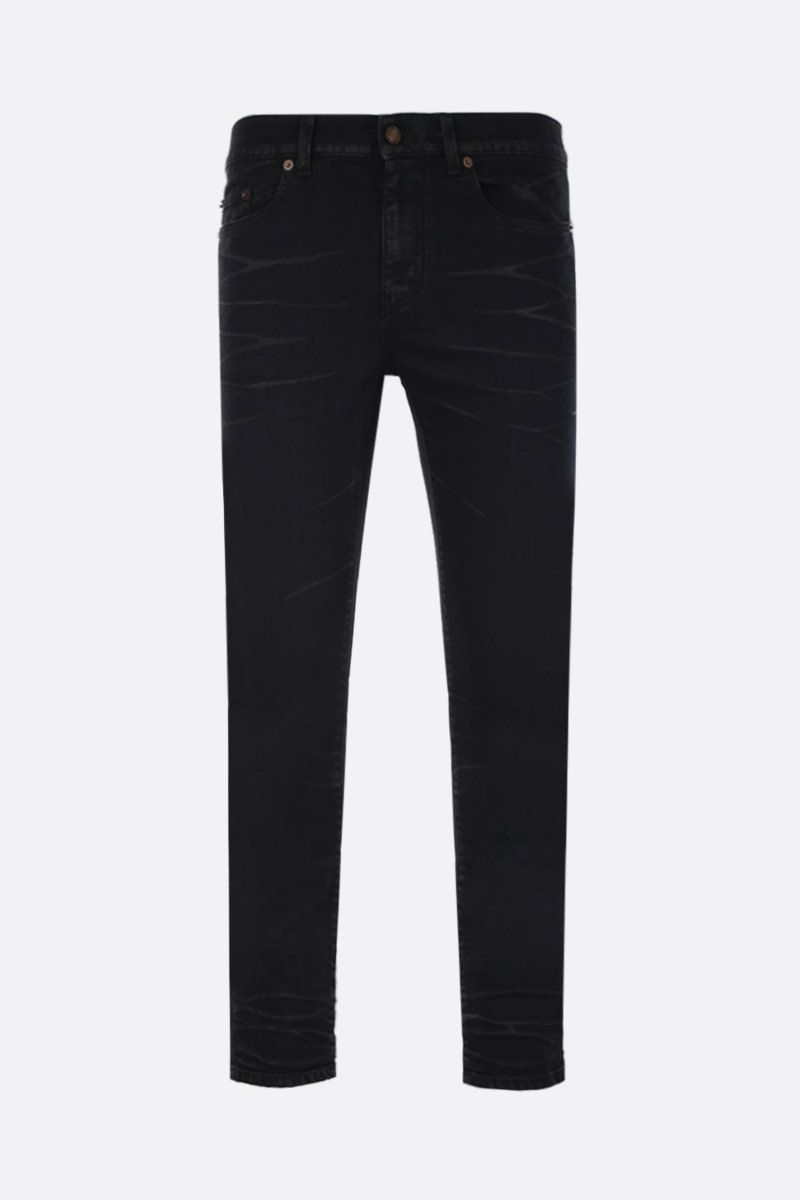 SAINT LAURENT: skinny jeans Color Black_1