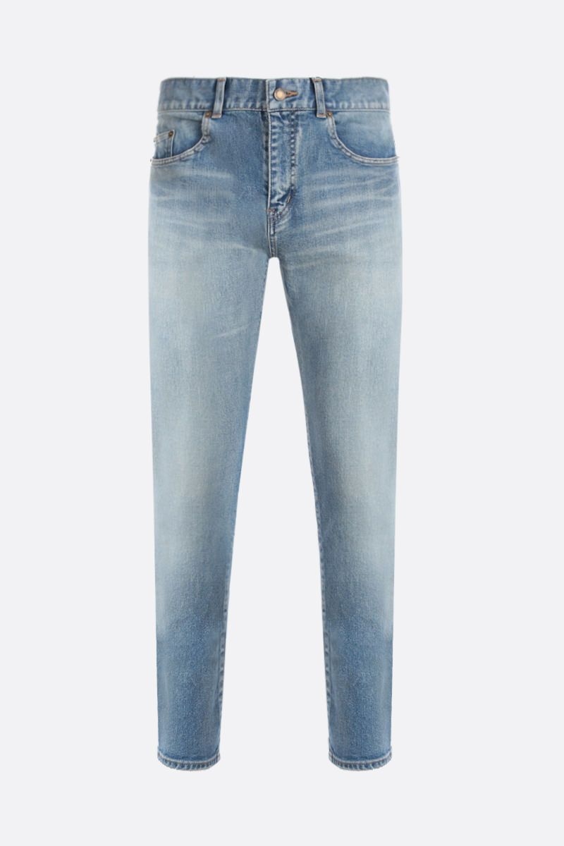 SAINT LAURENT: jeans skinny Colore Blu_1