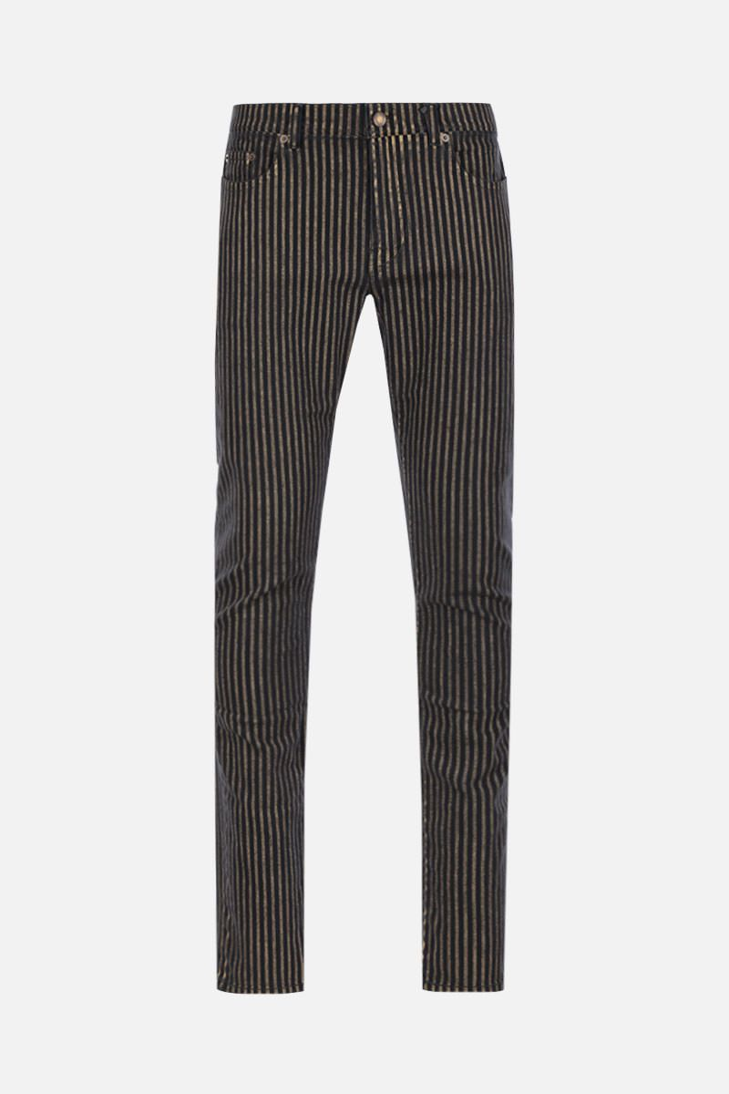 SAINT LAURENT: jeans skinny a righe Colore Multicolore_1
