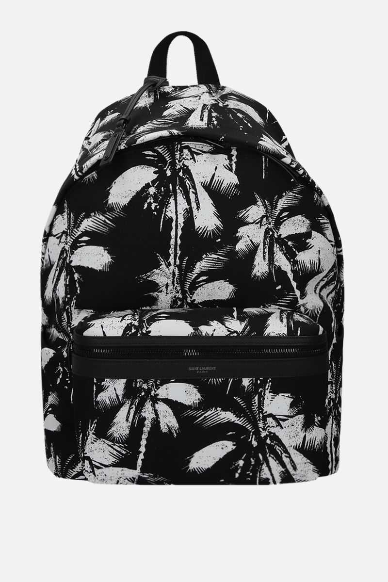 SAINT LAURENT: City backpack in printed nylon Color Black_1