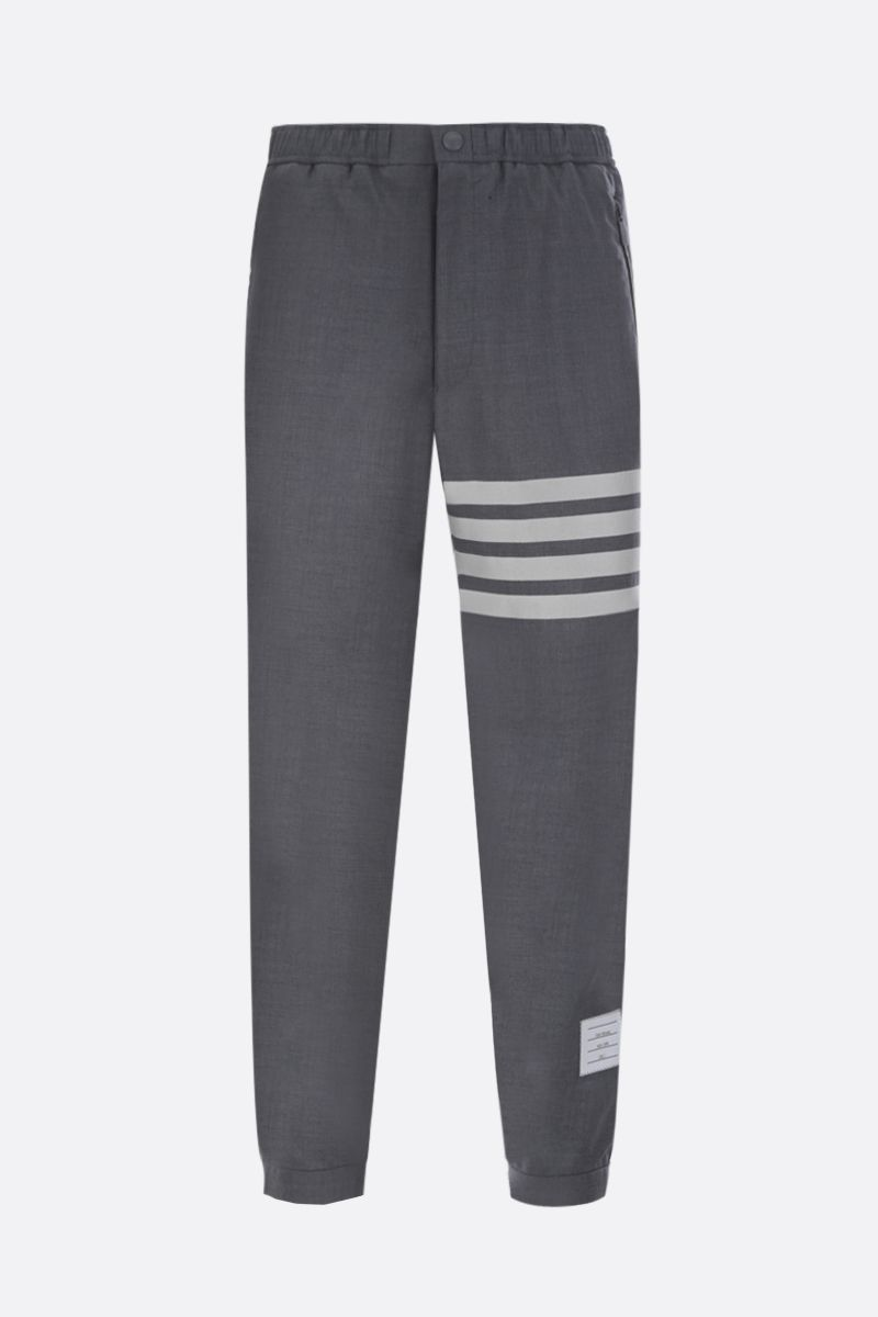 THOM BROWNE: lightweight wool joggers Color Grey_1