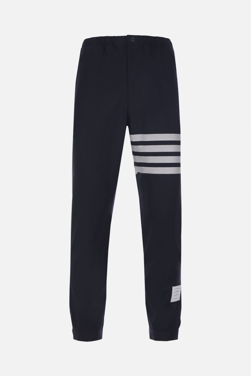THOM BROWNE: lightweight wool joggers Color Blue_1