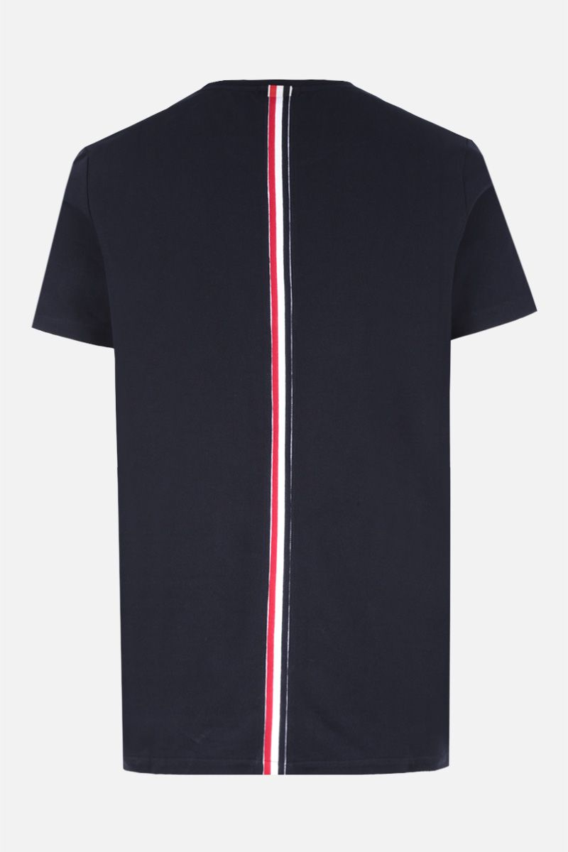 THOM BROWNE: cotton piquet t-shirt Color Blue_2