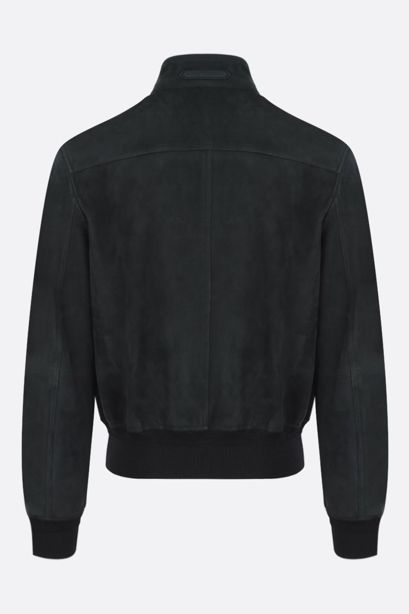 TOM FORD: velvet suede bomber jacket Color Brown_2
