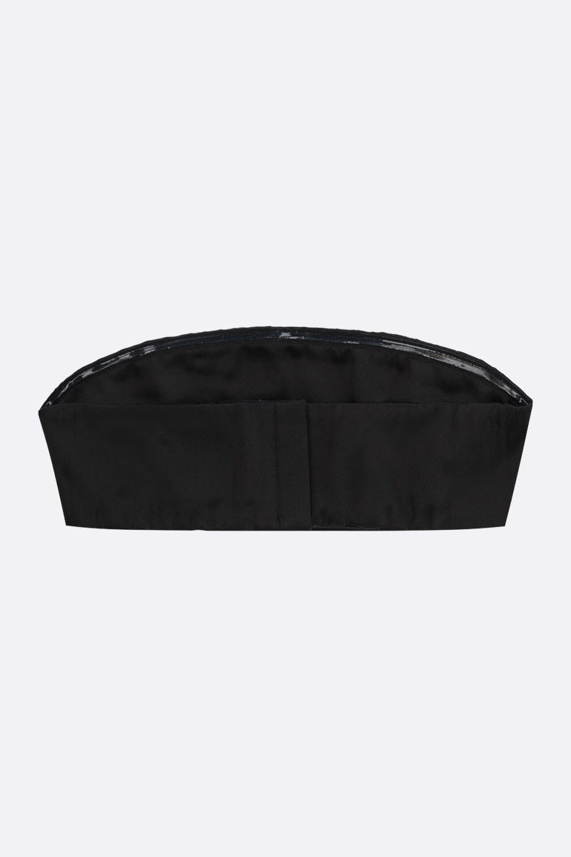 TOM FORD: stretch satin bandeau top Color Black_2