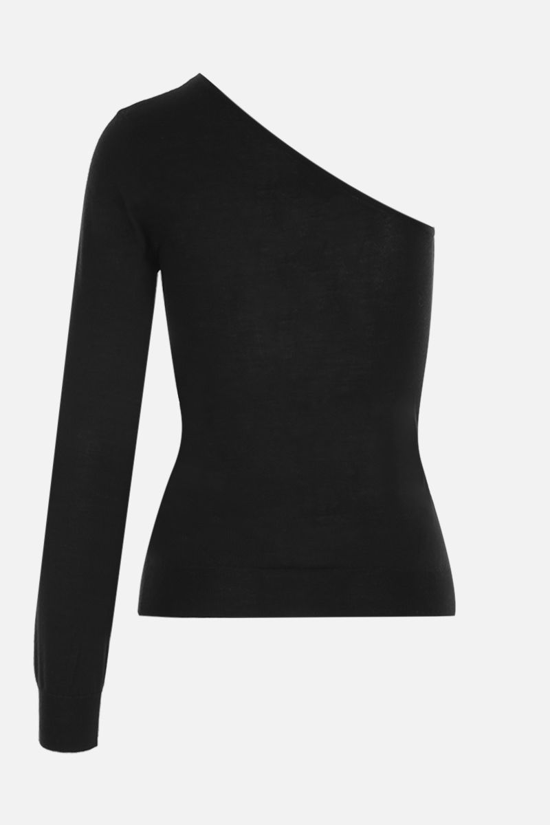 TOM FORD: cashmere silk blend one-shoulder top Color Black_2
