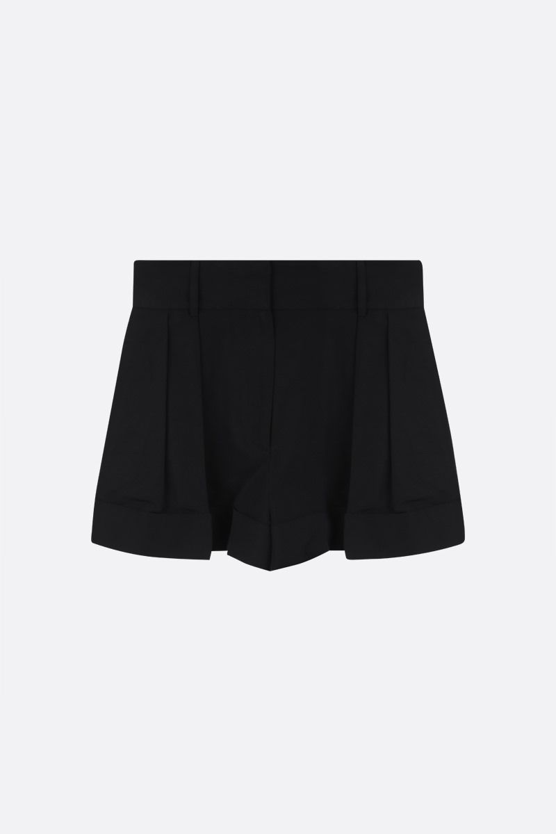 VALENTINO: cotton blend darted shorts Color Black_1