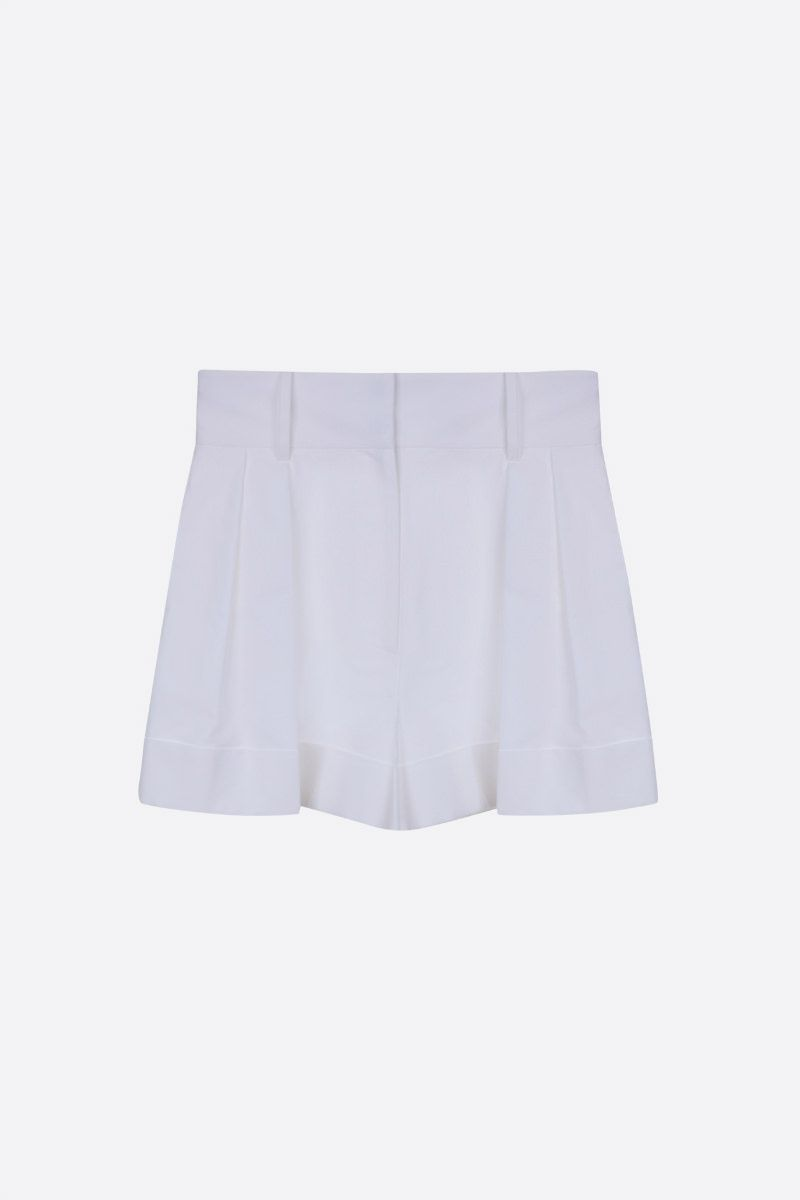 VALENTINO: cady cotton darted shorts Color White_1