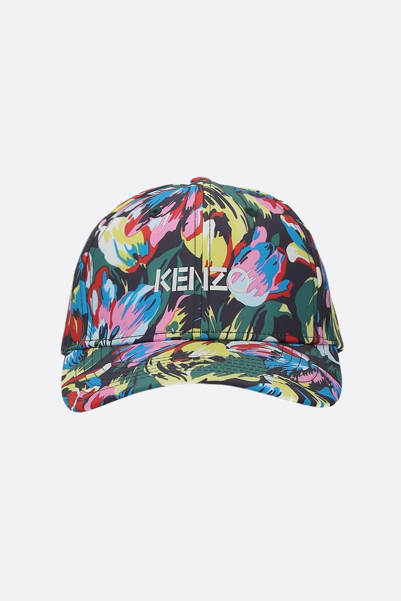 VANS X KENZO: Tulipes nylon baseball cap Color Black_1