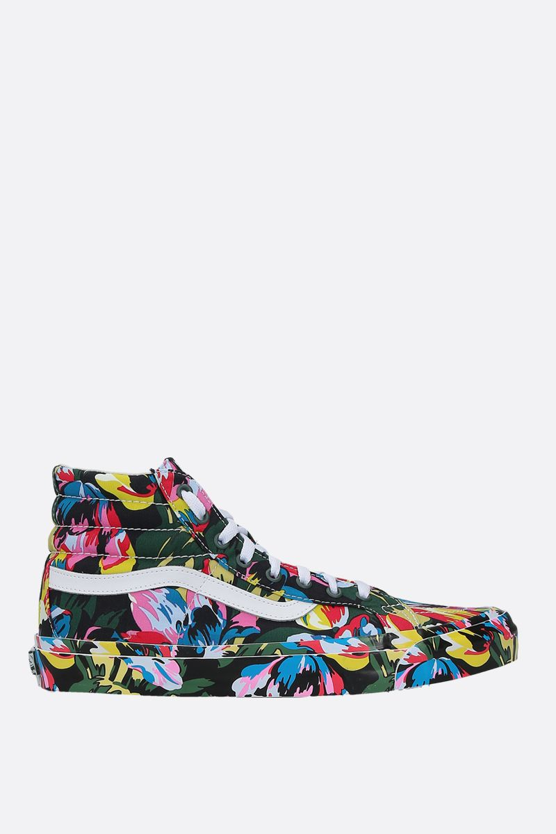VANS X KENZO: SK8-Hi Tulipes canvas high-top sneakers Color Black_1