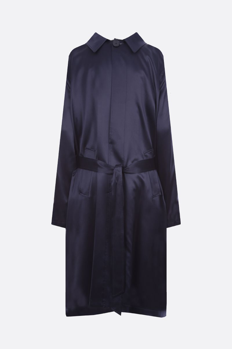 BALENCIAGA: Back to Front satin midi dress Color Blue_2