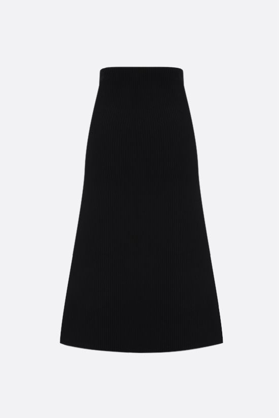 BALENCIAGA: technical wool A-line skirt Color Black_2