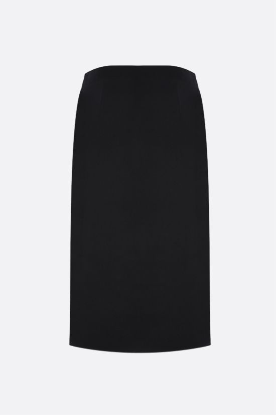 BALENCIAGA: wool gabardine pencil skirt Color Black_2