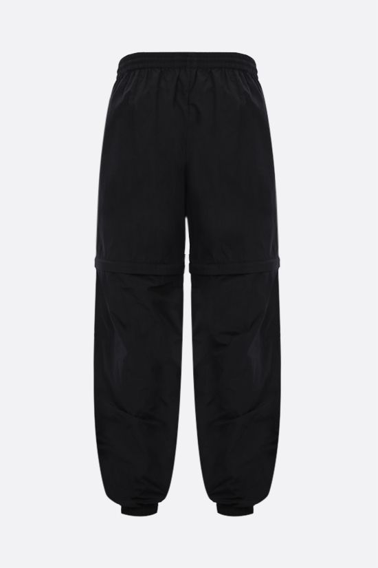 BALENCIAGA: logo print technical fabric joggers Color Black_2