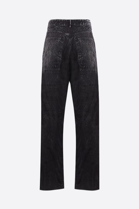 BALENCIAGA: Trompe-l'oeil cotton baggy pants Color Black_2