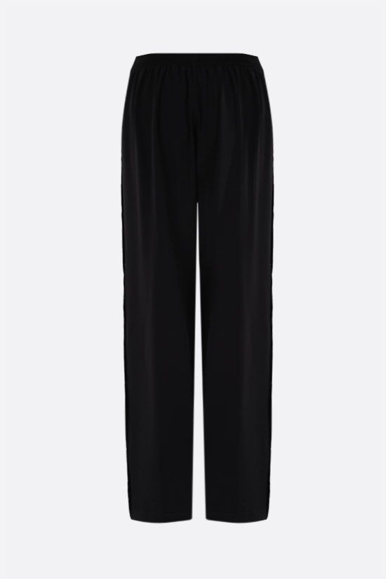 BALENCIAGA: button-detailed technical crepe joggers Color Black_2