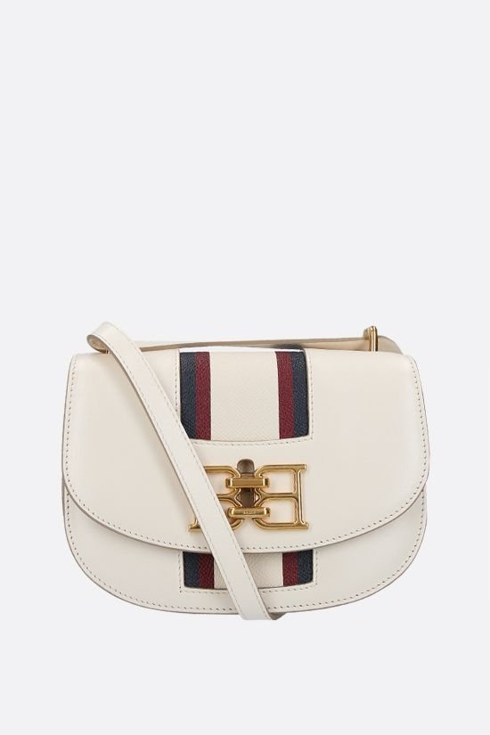 BALLY: Baily textured leather shoulder bag Color Neutral_1