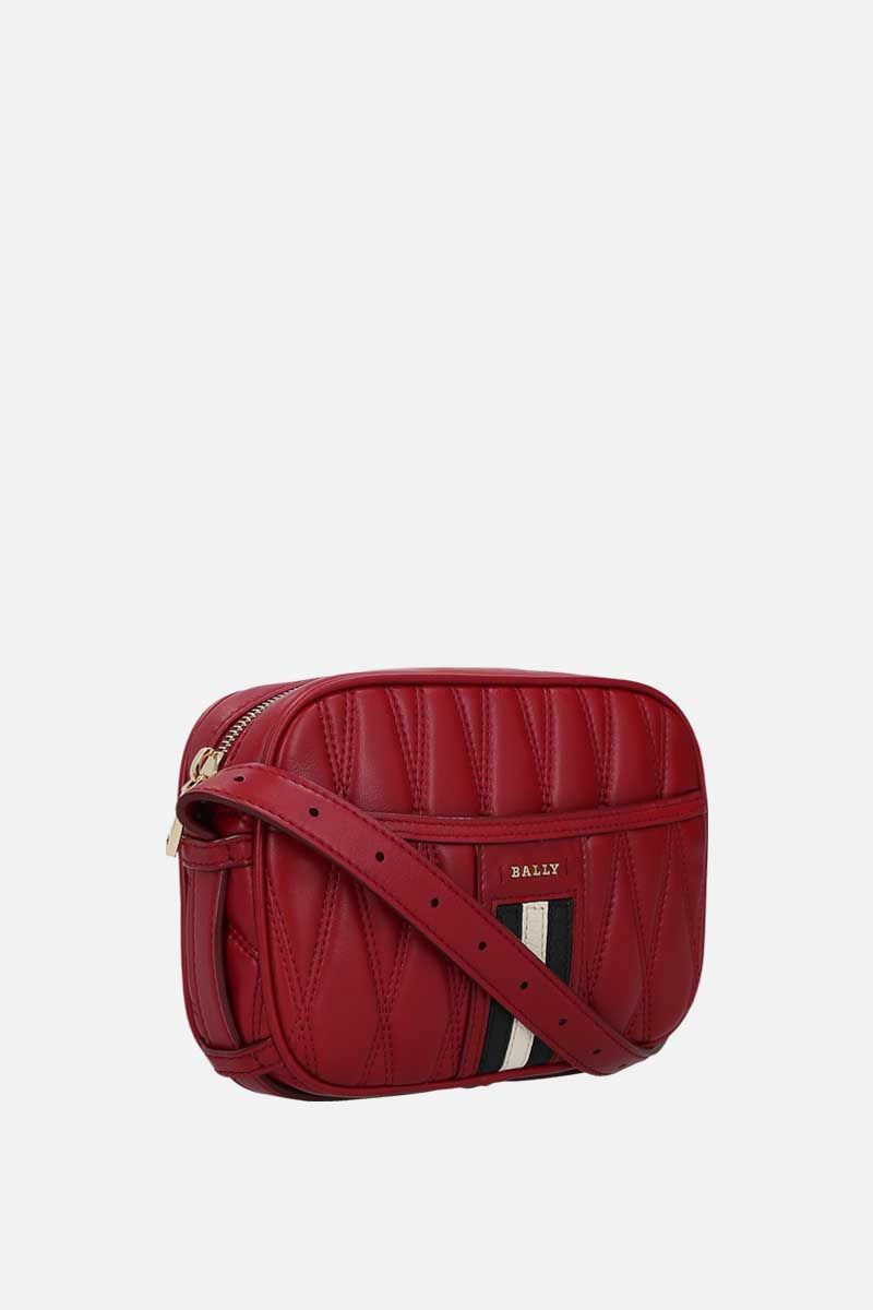 BALLY: quilted nappa camera bag Color Red_2