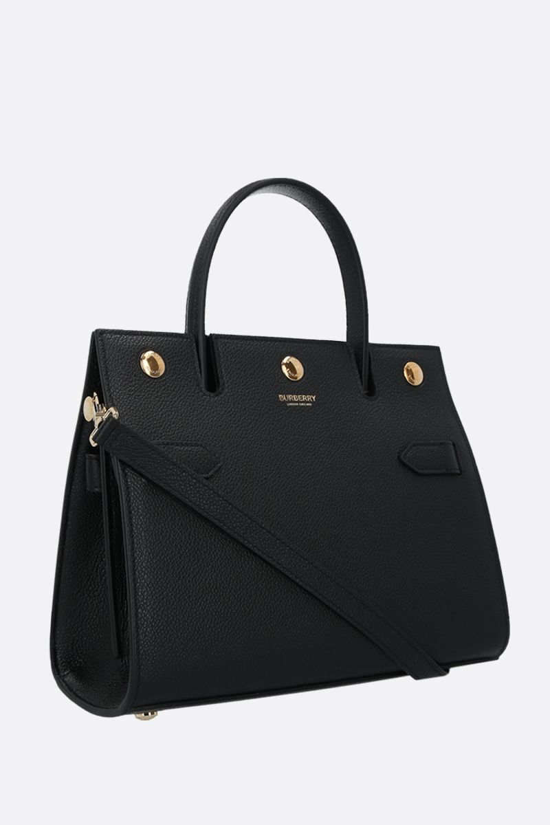 BURBERRY: Title mini grainy leather handbag Color Black_2