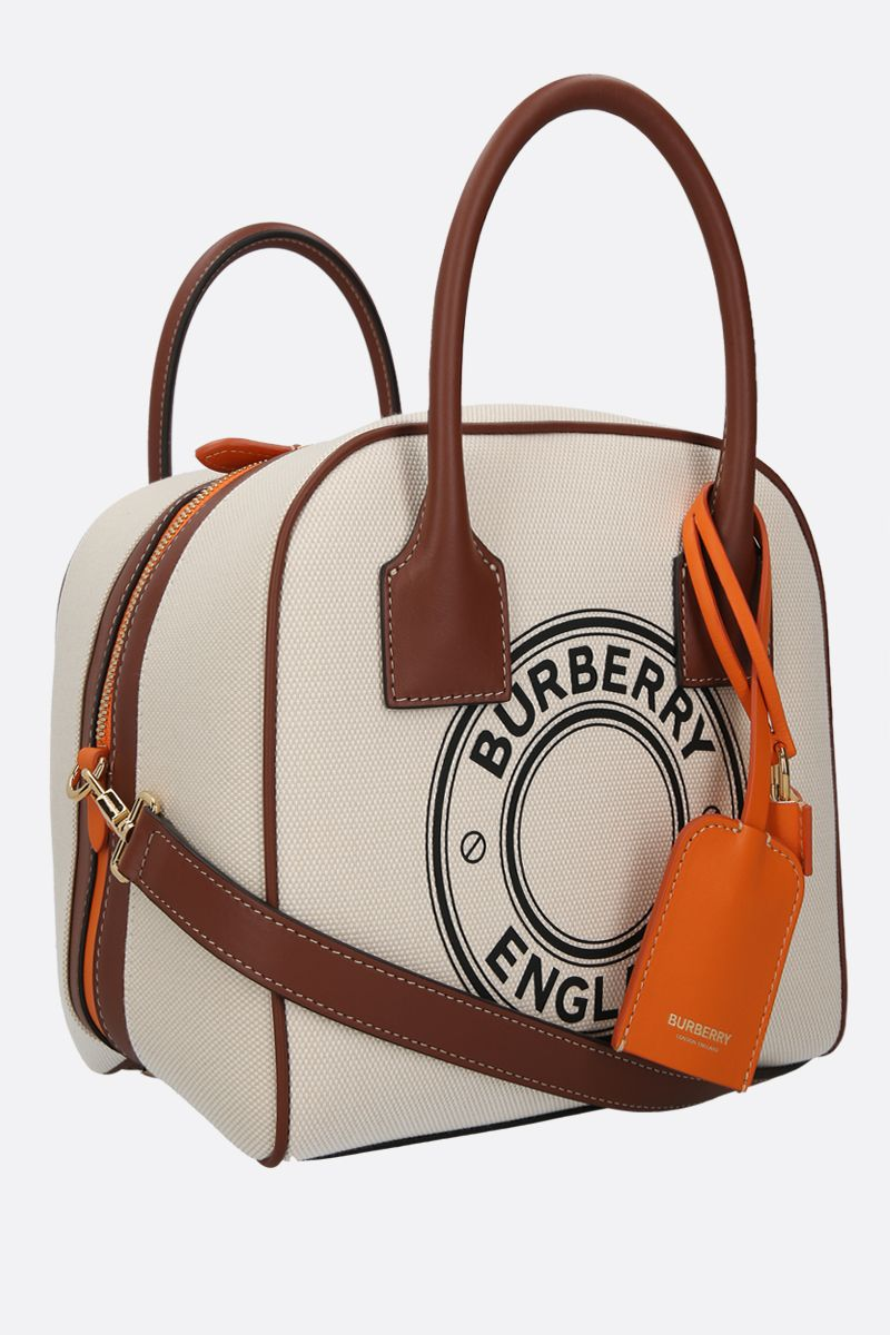 BURBERRY: borsa bowling Cube small in canvas_2