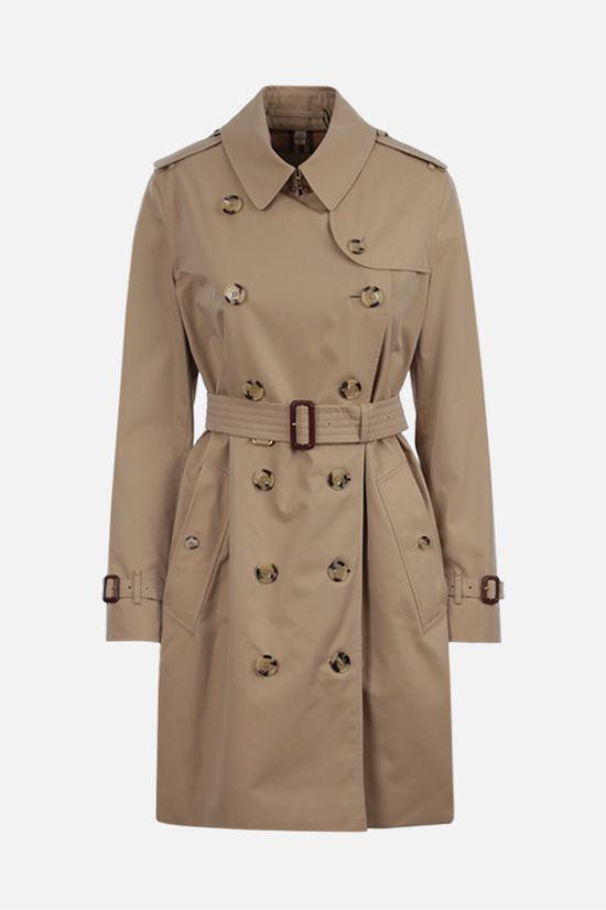 BURBERRY: Kensington double-breasted cotton trench coat Color Yellow_1