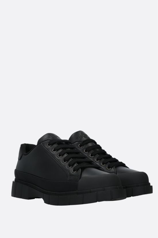 CAR SHOE: smooth leather low-top sneakers Color Black_2