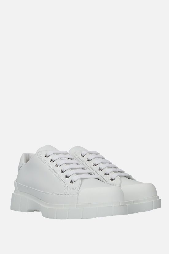 CAR SHOE: smooth leather low-top sneakers Color White_2